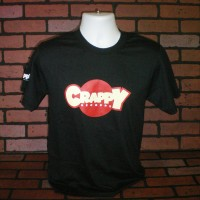 "Crappy Records – Black ""Red Dot"" Logo T-Shirt"